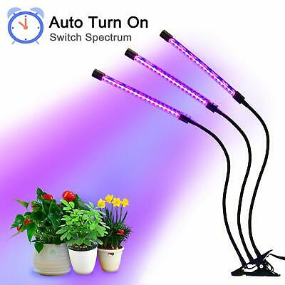 LED Grow Light. 27W Plant Growing Lamp. Auto Turn On Function, 54 LEDs. Timer.