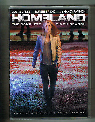 Homeland Complete Sixth Season Dvd 4-Disc Watched Once! Claire Danes