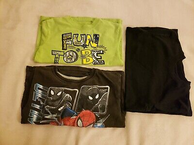 lot of 3 Garanimals Spiderman Boys T Shirt Fun to be a kid, green black, Size 5t