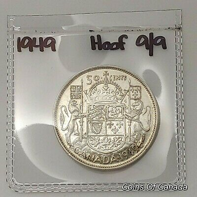 1949 Canada Silver 50 Cents HOOF 9/9 Sealed In Acid-Free Package #coinsofcanada