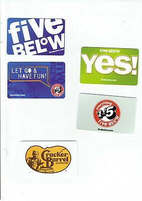Gift Cards / Collectible - YOU CHOOSE 3 for $1.59 - FOOD, Melting Pot, Landry's