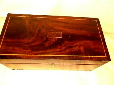 Rosewood  writing slope. Beautifull  deep  patina 2 ink bottles.quality antique