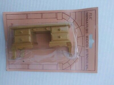 Dollhouse Miniature Table / Dresser/ Desk Stained 1:12 Scale Mini Wood Furniture