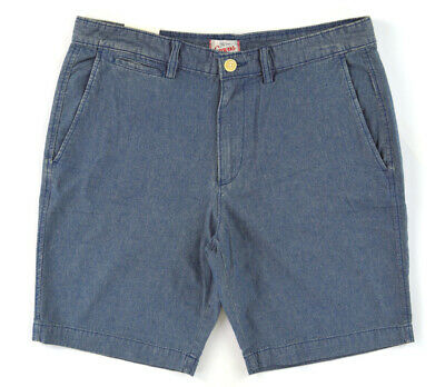NWT CANVAS by LANDS' END Light Blue Chambray Cotton Jean Shorts ~ Men's Size 32