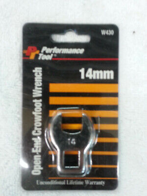 NEW Performance Tool 14mm Open End Crowfoot Wrench W430