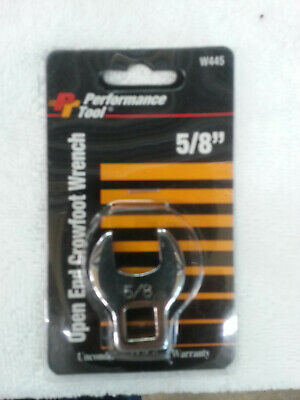NEW Performance Tool 5/8 Open End Crowfoot Wrench W445