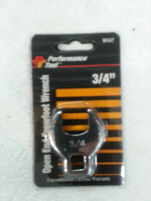 NEW Performance Tool 3/4 Open End Crowfoot Wrench W447
