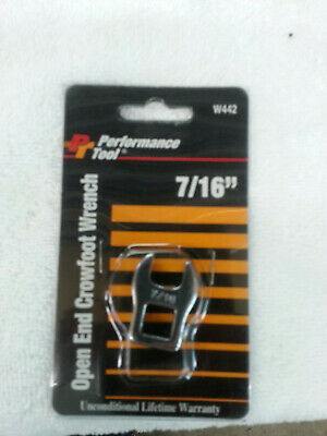 NEW Performance Tool 7/16 Open End Crowfoot Wrench W442