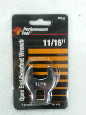 NEW Performance Tool 11/16 Open End Crowfoot Wrench W446