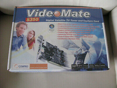 COMPRO TECHNOLOGY VIDEOMATE S350 Digital Satellite TV Tuner