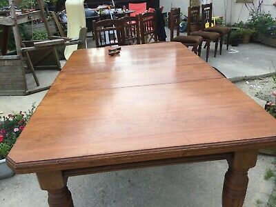 Victorian extending wind in dining table