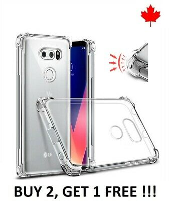 For LG G8 G7 ThinQ / One - Bumper TPU Transparent Rubber Silicone Cover Case