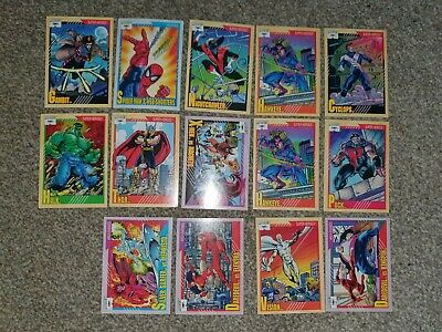 Marvel 1991 Trading Cards x 13