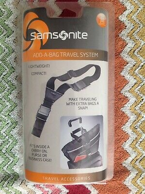 Samsonite Add-A-Bag Travel System Spinner Strap Black