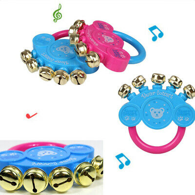Random Hot Sale Gift Newbron Educational Baby Toy Hand Bells Rattle Musical