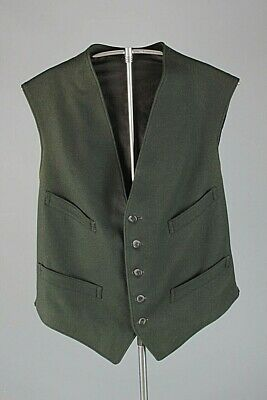 Vtg Men's 1890s Early 1900s Wool Vest Size Small Edwardian Formal #7434