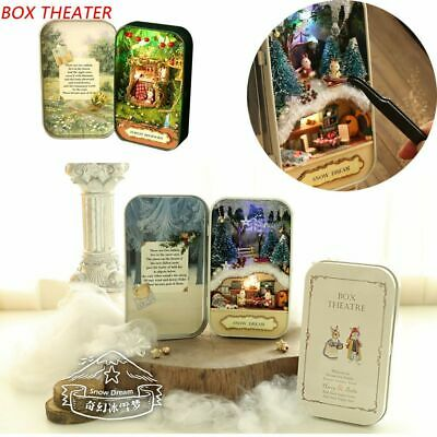 Christmas Gift Box Theater 3D Doll House Snow Dream Miniature Furniture