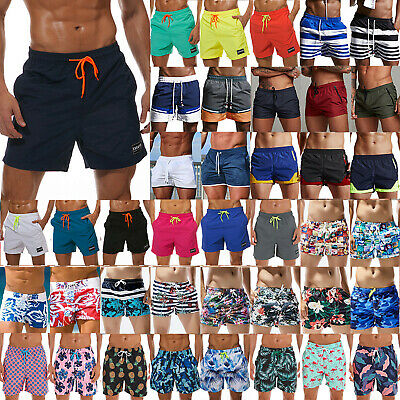 Mens Swimming Shorts Trunks Surf Board Summer Beach Sports Quick Dry Boxer Pants