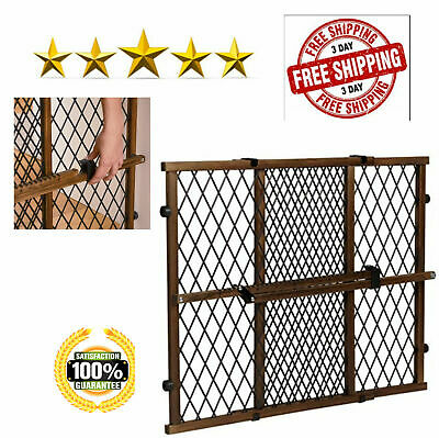 Evenflo Position And Lock Farmhouse Pressure Mount Wood Gate Pets Child Safety