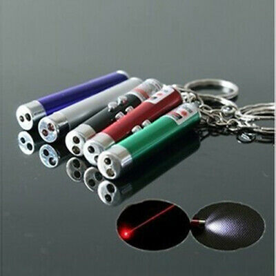Portable Mini 3-in-1 Detection Pen Red Light Laser Pen LED Light Keychain gift