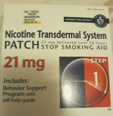 Habitrol Step 1 Nicotine Patch Transdermal System 21 mg 28 Patches Oct 20/20
