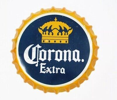 Corona Extra Light Beer Bottle Cap Tin Sign Bar Vintage Man Cave Office New