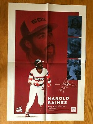 Chicago White Sox Harold Baines Hall Of Fame Poster
