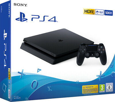 Sony PS4 500GB Slim Jet Black F Chassis Console Playstation HDR Brand New