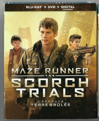 Sealed Blu-Ray Disc + DVD - MAZE RUNNER THE SCORCH TRIALS -  Also IN French