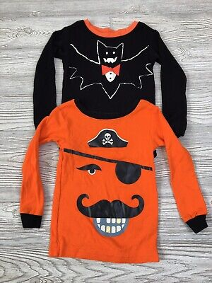 Baby Gap Boy's Toddler Size 2T/3T Shirt Lot Of Two Halloween Snug Fit Pirate Bat