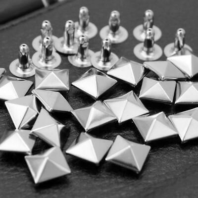 100pcs Pyramid Rivets Spikes Studs DIY For Making Leather Bag Shoes Belt Clothes