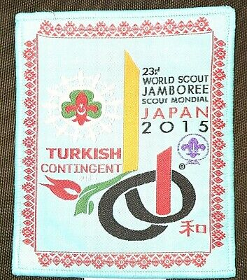 A9112 24 th WORLD SCOUT JAMBOREE 2019 -  2015 WSJ - TURKISH CONTINGENT PATCH