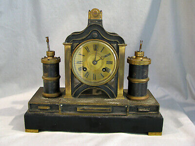 Antique FRENCH MEDAILLE BRONZE MECHANICAL CLOCK - FOR PARTS