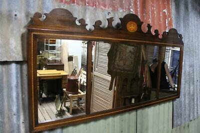 A Large Antique Sheraton Revival Mantle Mirror
