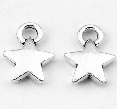 Ancient silver starlet Jewelry Findings,charms Pendants 40pcs