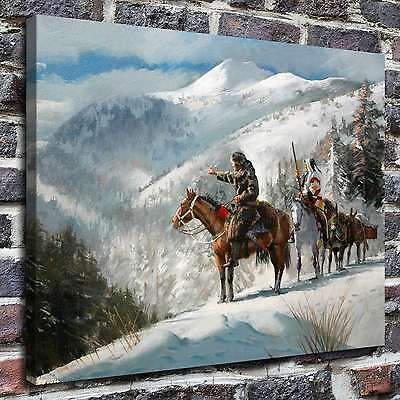 "Jim Carson western Painting HD Print on Canvas Home Decor room Wall Art 16""x22"""