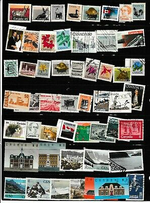 #1930=Canada used mix of 50 different stamps