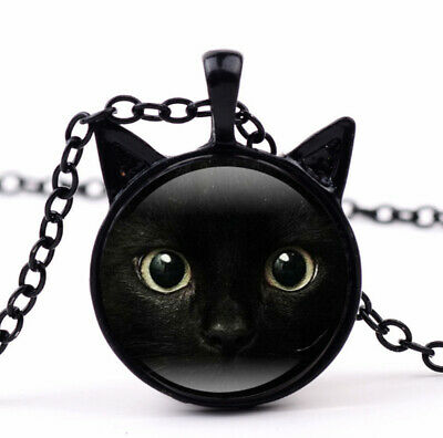 Women Animal Maxi Necklace New For Cat Pendant Necklace Jewelry Glass Necklace