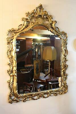 A Large Classical Vintage French Gilt Framed Mirror 76cm x 110cm