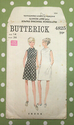 Vintage BUTTERICK sewing pattern Dresses #4825 1960's GOOD  ~262