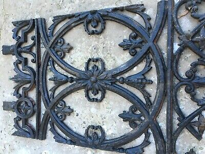 Antique Victorian cast iron panels