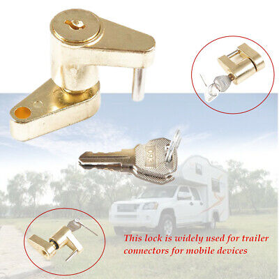 Small Trailer Lock Tow Hitch Ball Bar Trailer Coupler  Safety Locking Mechanism