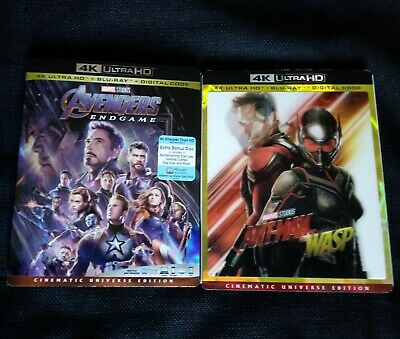 #AVENGERS #ENDGAME + #ANTMAN & THE WASP 4K /Blu-ray + FREE SHIP #4K #Marvel #MCU