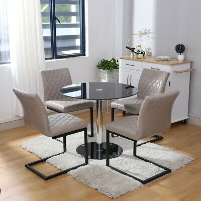 Strange Lpd Oporto Round Glass Top Dining Tables Chairs 2 Tables Uwap Interior Chair Design Uwaporg