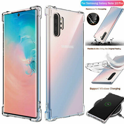 For Samsung Galaxy Note 10 Plus S10 + Clear Case Cover Shockproof TPU Bumper jc