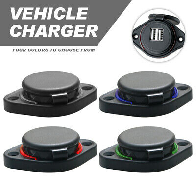 New Dual USB Charging Car Charger Power Outlet for 12V 24V Auto Motorcycle