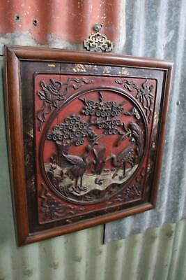 A Vintage Chinese Decoratively Carved Wall Hanging Plaque