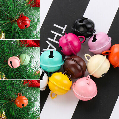 10pcs Metal Jingle Bells Pet Pendants Christmas Xmas Tree Key Hanging Decor AU
