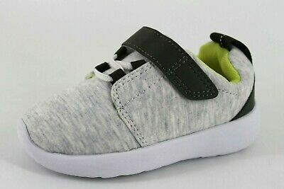H&M Infant Kids Unisex Boys Girls UK 5.5 EU 21 Grey & Green Touch Close Trainers
