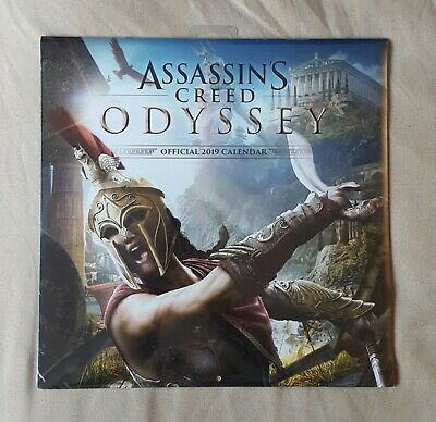 NEW & SEALED 12 Month 2019 Official Calender - Assassin's Creed Odyssey